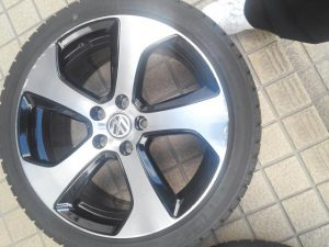 VW純正アルミホイール部分ダイヤカット 1-before01